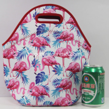 Cukup Flamingo Pencetakan Sublimasi Neoprene Lunch Bags